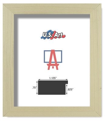 Unfinished Natural Frame Flat Solid Poplar Wood (1.125 Inch)