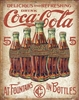 COKE - 5 Bottles Retro