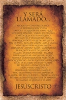 24x36 Y SERA LLAMADO... ( And He Shall Be Called ) Spanish Version- Religious, Unframed Black Art Print Poster African-American