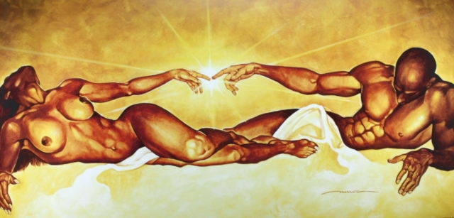 54b1240c183 Connection By WAK Kevin A. Williams 18x36 Black Art Print Poster African- American