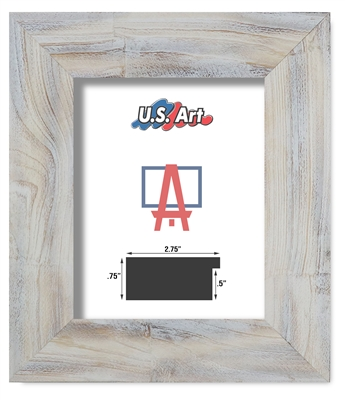 White Distressed Oak - Solid Wood Frame (2.75 Inch)