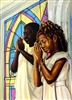 Daily Prayer By WAK Kevin A. Williams  23.5x32 Black Art Print Poster African-American