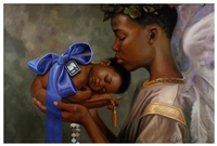 Heaven Sent BOY by Henry Battle  24x36  Black Art Print Poster African-American