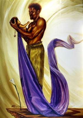 Joy Of His World By WAK Kevin A. Williams  24x36 Black Art Print Poster African-American