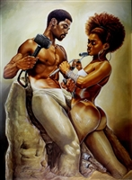 Made For Each Other By WAK Kevin A. Williams  24x32 Black Art Print Poster African-American