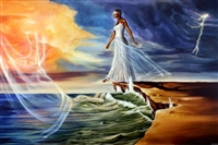 Stepping Out On Faith Female By WAK Kevin A. Williams  23x36  Black Art Print Poster African-American
