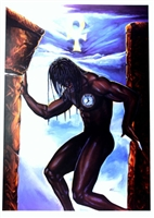 Test Of Faith By WAK Kevin A. Williams  24x35 Black Art Print Poster African-American