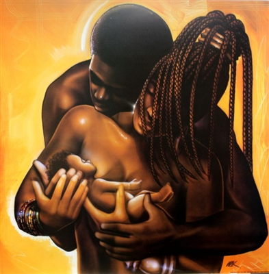 Together By WAK Kevin A. Williams  24x24 Black Art Print Poster African-American