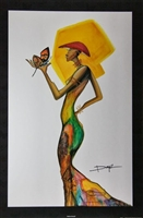 Madame Butterfly Artist Doyle  24x36  Art Print Poster African-american
