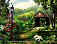 8x10 Inch Bridge Fine Art Print Interior Decor in Cottages #X60-810-G