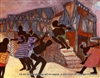 8x10 Inch Night Dancers African American Black Art Print in African Tribal #X65-810-b