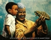 8x10 Inch Grandpa and Grandson African American Black Art Print in Father #X71-810-K