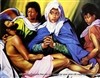 8x10 Inch Decent From the cross African American Black Art Print in Jesus #X75-810-C