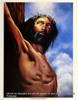 8x10 Inch Forgive Them Father African American Black Art Print in Jesus #X78-810-K