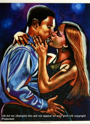8x10 Inch Lost in the Moment African American Black Art Print Posters in Romance #X83-810-P