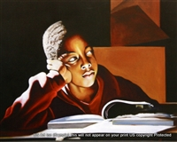 8x10 Inch The beginning African American Black Art Print in Boys #X85-810-M
