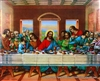 8x10 Inch Last Supper African American Black Art Faith Print in Last Supper #x1-810-A