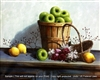 8x10 Inch Green Apples Fine Art Print and Poster in Fruit Arrangement #x15-810-I