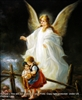 8x10 Inch Guardian Angel Fine Art Print and Poster in Angels #x23-810-K