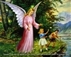 8x10 Inch Guardian Angel Fine Art Print and Poster in Angels #x23-810-N