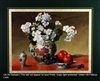 8x10 Inch White Geraniums Fine Art Print and Poster in Bouquets #x34-810-G