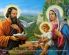 8x10 Inch Holy Family Dove Fine Art Print Faith in Catholic Spanish posters #x4-810-R