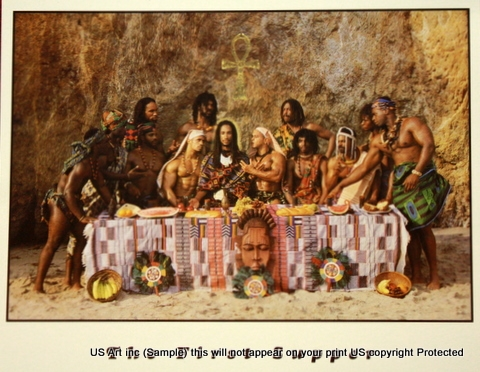 8x10 Inch The First Last Supper African American Black Art Faith