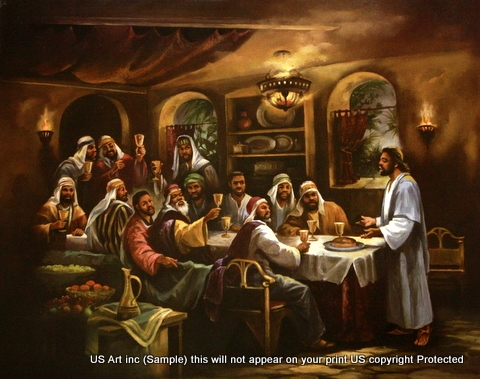 8x10 Inch The Last Supper African American Black Art Faith Print In