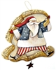 Lynne Andrews Star Spangled Santa Ornament Pattern Packet.