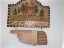 Lynne Andrews Happy Hearted Plaque Pattern Packet