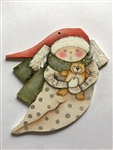 Lynne Andrews waiting for santa snow baby Pattern Packet