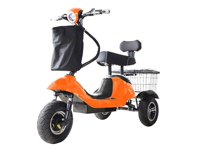Mini Rickshaw 48V Mobility Scooter - Orange