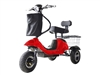 Mini Rickshaw 48V Mobility Scooter - Red / Black
