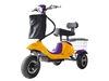 Mini Rickshaw 48V Mobility Scooter - Yellow / Purple