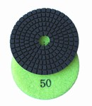 3 inch wet polishing pad, grit 50