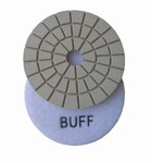 3 inch wet polishing pad, buff pad, white