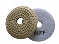 3 inch convex wet polishing pad, white buff