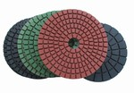 3 inch Wet Polishing Pad Set with Black Buff (8pc)