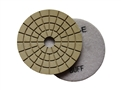 4 inch wet diamond polishing pad,  white buff