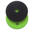 4 inch wet polishing pad, grit 50