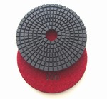 4 inch wet polishing pad, grit 100