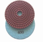 4 inch wet polishing pad, grit 400
