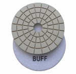 4 inch wet polishing pad, buff pad, white