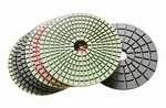 4 inch wet polishing pad set, black buff