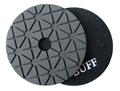 4 inch Supreme Granite Wet Polishing Pad, Black Buff