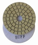 4 inch Premium Wet Polishing Buff Pad, White