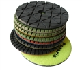 4 inch Supreme Granite Wet Polishing Pad Set of 8 With Black Buff