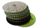 4 inch Supreme Granite Wet Polishing Pad Set of 8 With White Buff