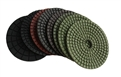 4 inch wet diamond polishing pad set with black buff