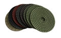 4 inch wet diamond polishing pad set with white buff